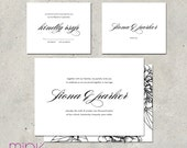 "elegant wedding invitations formal script - ""Swoon"""