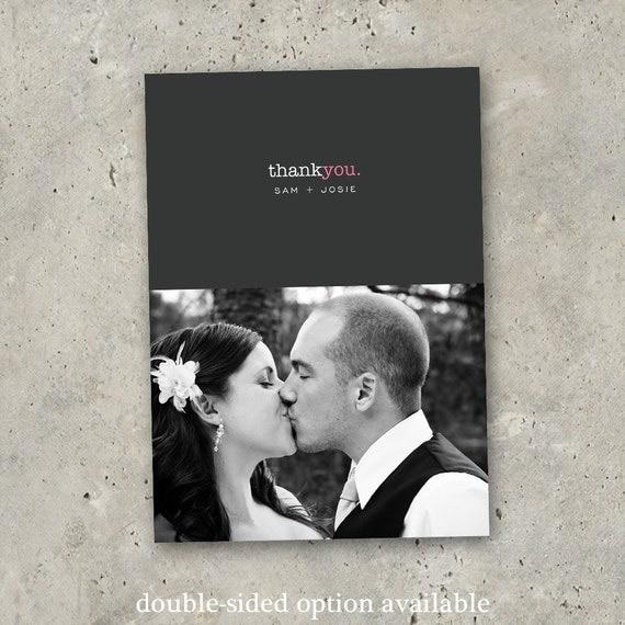 "wedding thank you photo card - ""A Simple Wish"""