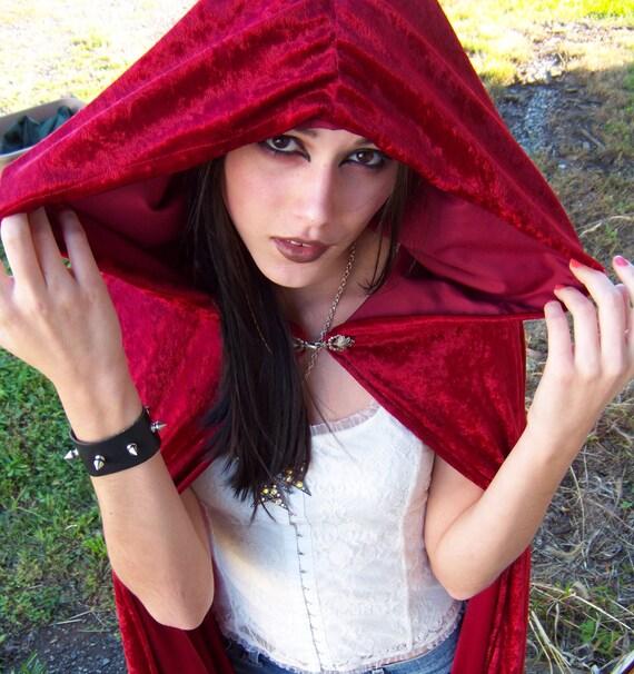 Custom Velvet Cloak/ Cape with Hood - You Choose Your Color