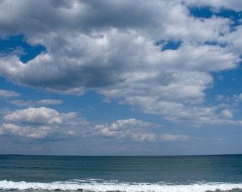Clouds & Wave - Aluminum Print