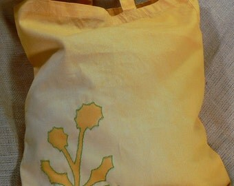 Medium Yellow Dandelion Tote