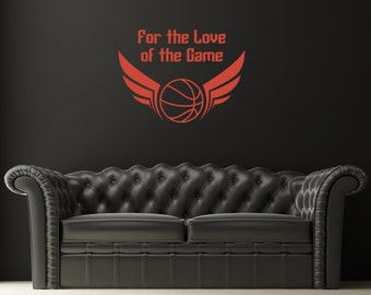 Basketball Wall Decal, Sports Wall Decal, Man Cave Decor, Modern Nursery Decor, Dorm Wall Decor, Gifts for Athletes, Play Room Wall decal
