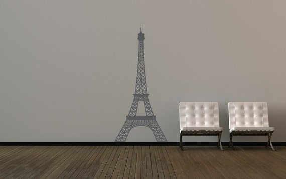 Eiffel Tower Decor, Eiffel Tower Decal, Paris Wall Decal, Modern Nursery Decor, Paris Decor, Paris Wall Art, Modern Wall Art, Nursery Decal