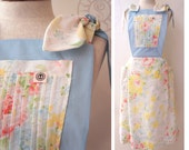 Apron Dress Eco Chic Recycled Sheets