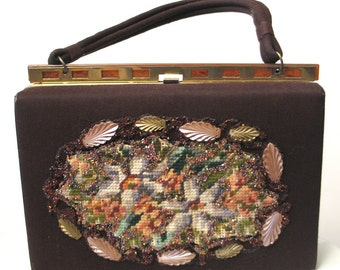 SALE WAS 45.00 Vintage Early 1960s Jeweled Handbag by Gay Bag