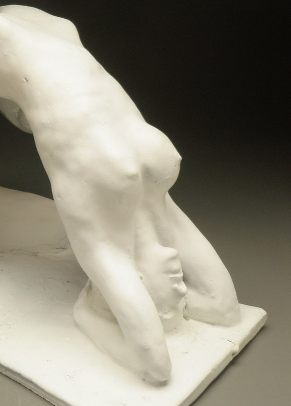 Mature Erotic Art Tantric Lovers Figure Sculpture, Headstand Cunnilingus, Sexual Yoga Couple