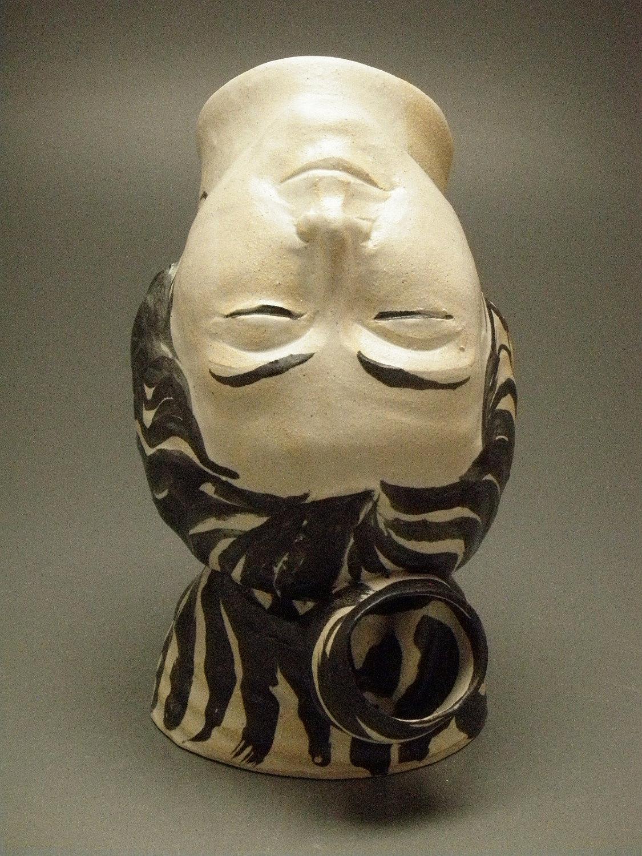 Inversion Ceramic Head Art Face Vase Sculpture Upside Down