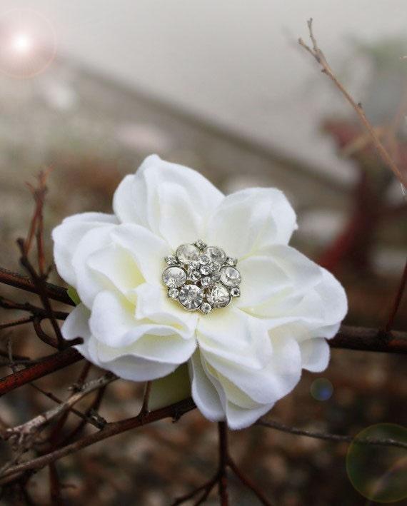 White Flower For Hair Wedding: Off-white Bridal Flower Hair Off White Bridal Hair Clip