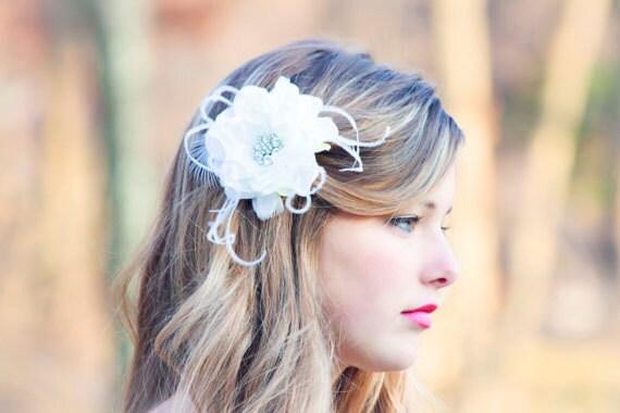 Bridal Flower, Fascinator, Hair Clip, Wedding Flower, bridal hair clip