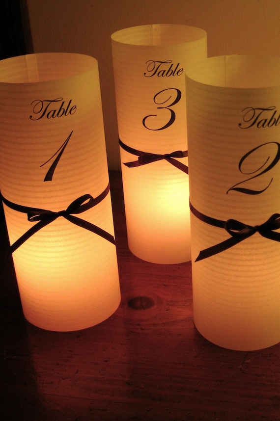 25 DIY luminaries for centerpiece, table numbers at wedding, events, balls
