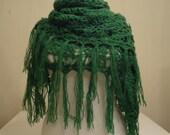 CLEARANCE! Grass Green Triangle Shawl