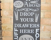 LAUNDRY Room Sign/The Laundry Room/Home Decor/Wood Sign/Primitive/Rustic/Country Sign/ Decorate Laundry Room/Black/Gray/DAWNSPAINTING/10x 21