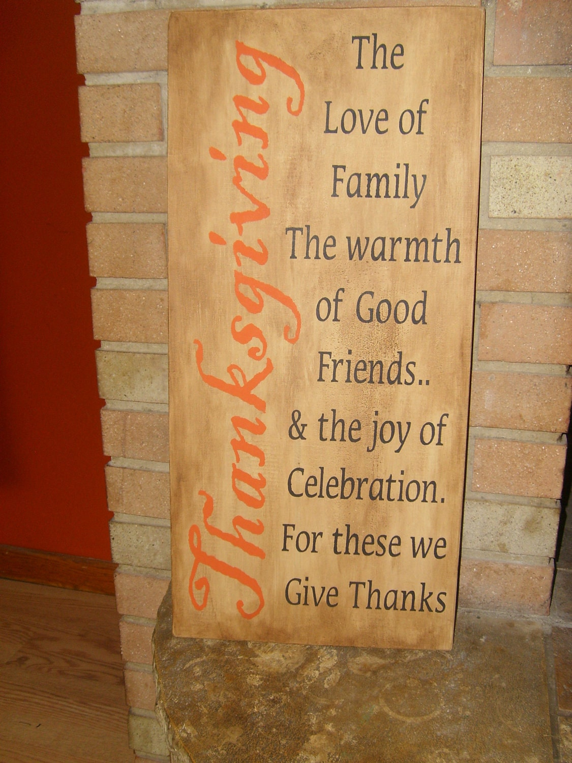 A Fall Holiday Thanksgiving Primitive Wood Sign Home Decor
