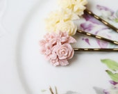 Large Cluster Flowers - Set of Three Hairpins