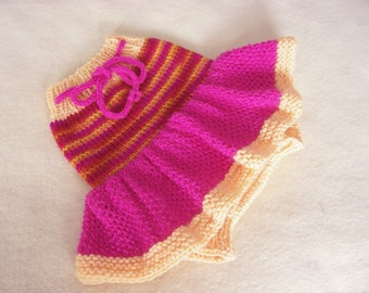 Hand Knitted Wool Cloth Diaper Cover Skirt Soaker Wool Nappy Cover Baby Diaper Cover Knit Cloth Diaper size Small Nb-6 Month