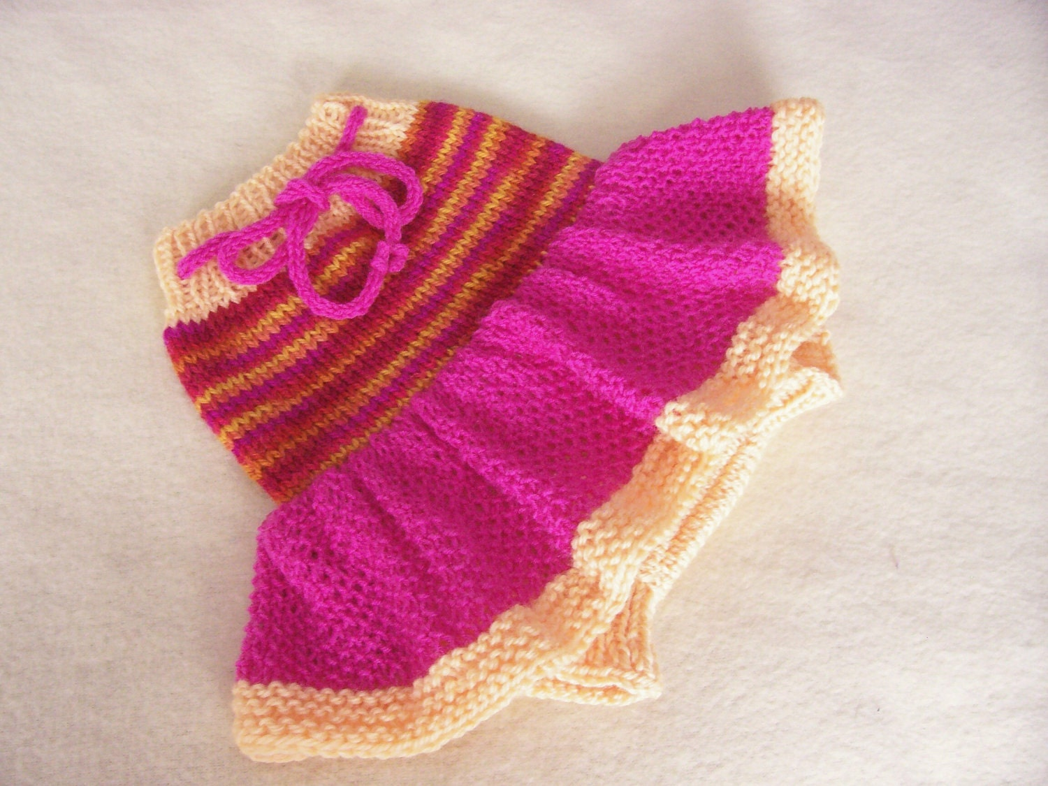Knit Wool Diaper Cover Pattern : Hand Knitted Wool Cloth Diaper Cover Skirt Soaker Wool Nappy