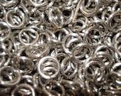 100 + Silver Aluminum Jump Rings 16 gauge 1/4 ID, Top Shelf Handmade SawCut chainmail, chain mail jumprings - Pick quantity / price