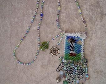 Hatteras lighthouse amulet bag