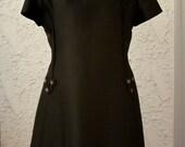 Vintage 1960s Little Black Dress with Rhinestones - M/L