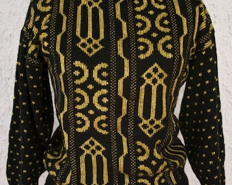 Vintage 1980s Polka Dot Abstract Sweater - XS/S - New Years party swater