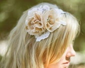 Bridal Wedding Headband, Bridal, Alencon Lace Applique Tiara, Head piece, 522