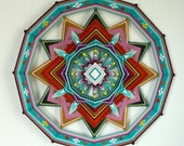 Shield of Love, by custom order, 24 inch Ojo de Dios mandala