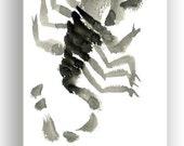Zodiac Scorpio Astrology Zodiac Scorpio Original Zen Painting October November Birthdays