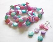 Cotton Candy On The Boardwalk Bracelet and Earrings Set