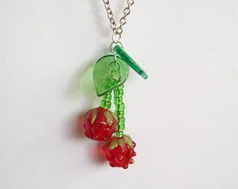 SALE - Summer Raspberries necklace