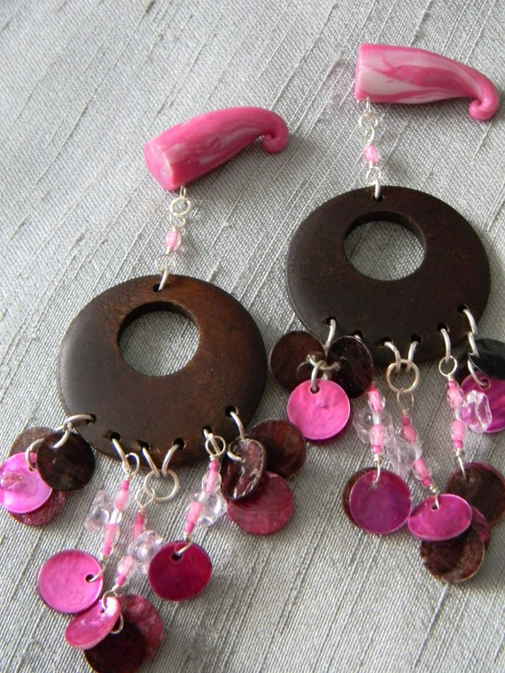 Spring SALE 50% Off - 00g Ready to GO - Pink and Chocolate Go Go's - was 36 dollars
