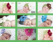 Newborn HAT and diaper cover Photo Shoot / Flower Hat Photography Set Photo prop / Baby Beanie Hat / Flower Hat Crochet Knit New Baby GIFT