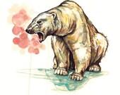 Departing No. 2 (Polar Bear)- Limited Edition Polar Bear Print (last of this run)