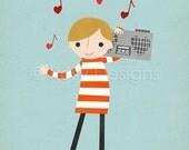 Love Songs - Stereo Boy - Customizable 8x10 Archival Art Print