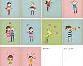 SALE - Love & Hearts Postcard Collection Set