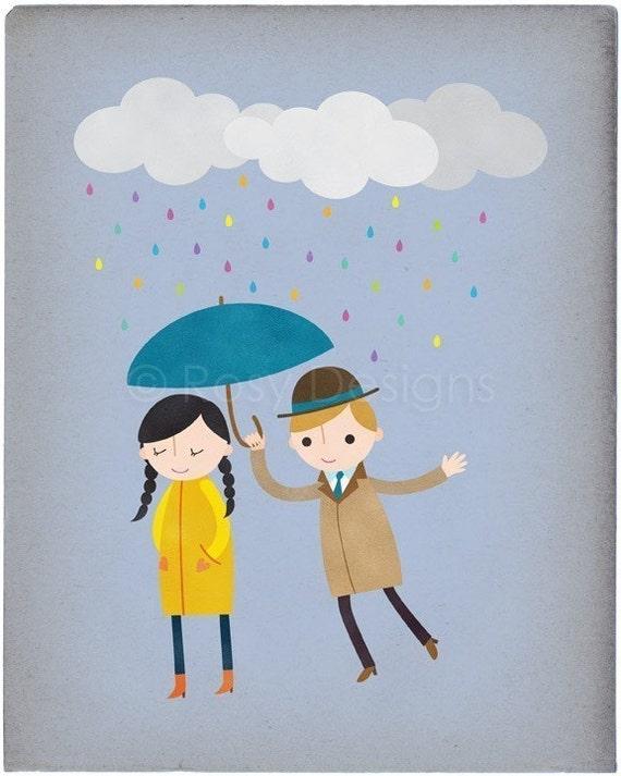 Rainy Day Love - Customizable 8x10 Archival Art Print