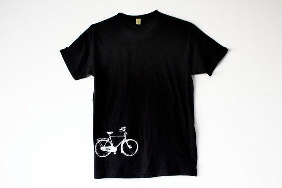 Bike Tshirt  - Black Bicycle Shirt - In S, M, L, XL, 2X - Sports Tshirt