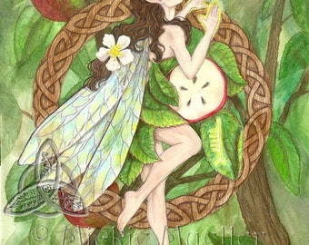 Apple Tree Fairy Print Open Edition Print