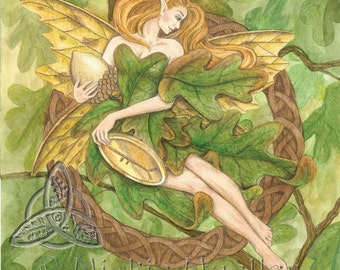 Oak Tree Fairy Open Edition Print