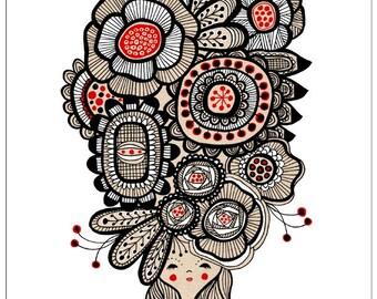 Flower Girl - 8.5 x 11 Print