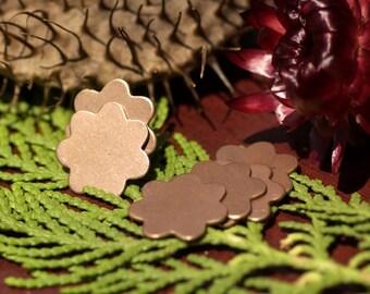 Copper 7 Petal Flowers for Enameling Stamping Texturing Soldering Blanks