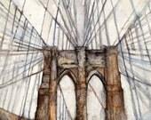 Brooklyn Bridge Footpath- Small Print