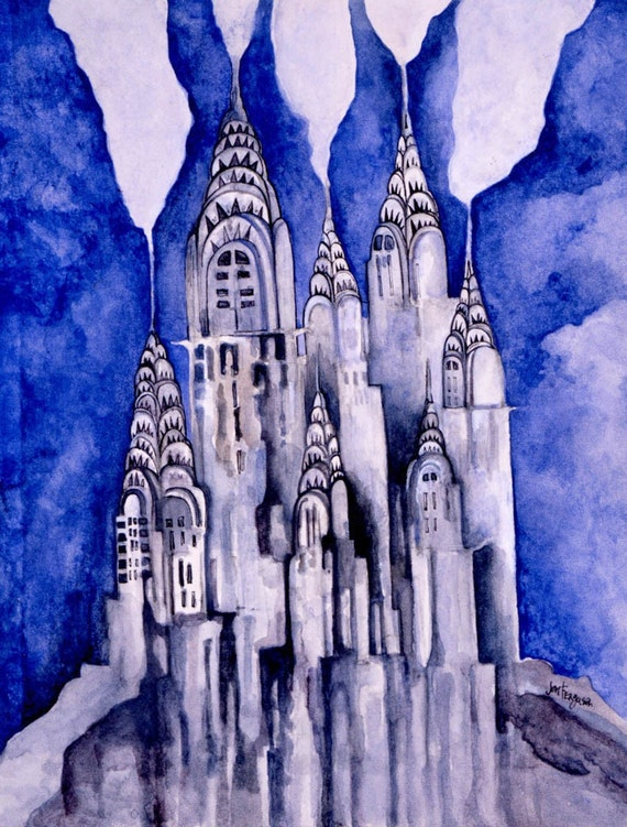 Chrysler Building Cityscape NYC Cards-Package of Six with Envelopes