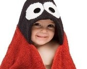 PERSONALIZED Red Ladybug Hooded Towel