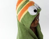 PERSONALIZED Caterpillar Hooded Towel