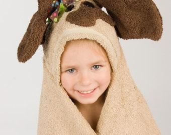 Girl Dog Hooded Towel