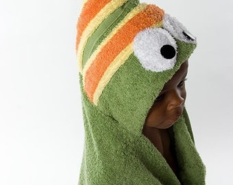 Caterpillar Hooded Towel