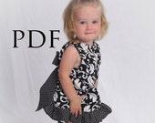 Pinafore Pattern, Baby Dress Pattern, Girls Sewing Pattern, Ruffle Dress Sewing Pattern, Girl's Pinafore Pattern