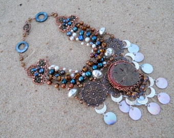 Dreams of Marrakech - a Pearl Statement Necklace in Moroccan Style