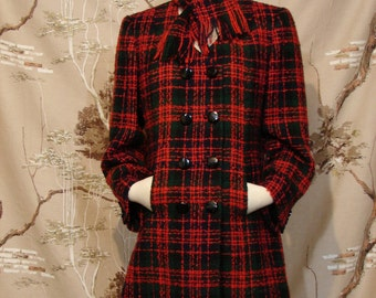 Coat - Wool Plaid - Excellent Quality Tailor Made