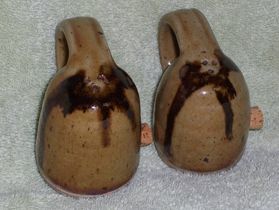 Vintage  Stoneware salt and pepper shakers FREE shipping